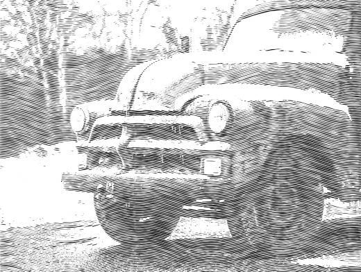 Engrave Old Pickup Truck
