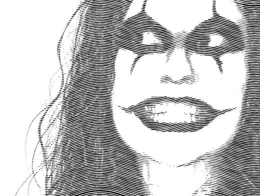 Engrave Crow Style Portrait