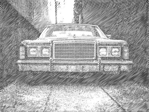 Engrave Diagonal American Classic Car