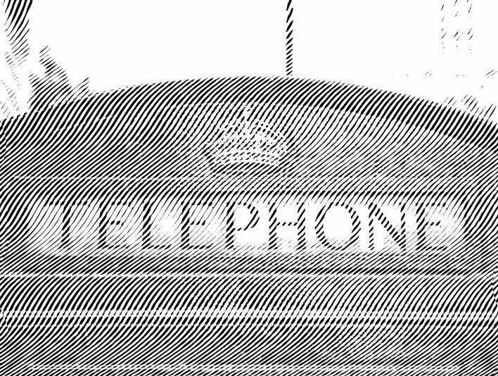Engrave Right Diagonal London Phone Booth