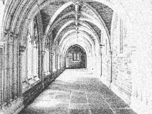 Stipplr Stone Monastery Hallway Architecture
