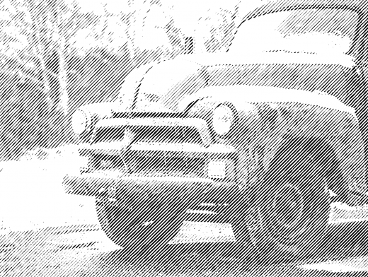 Stipplr Old American Farmers Truck On Dirt Road
