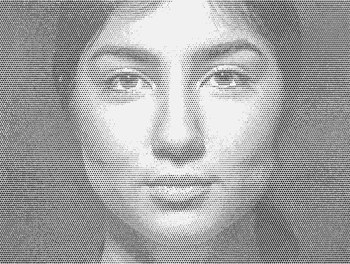 Stipplr Portrait Of Young Woman With Mona Lisa Smile
