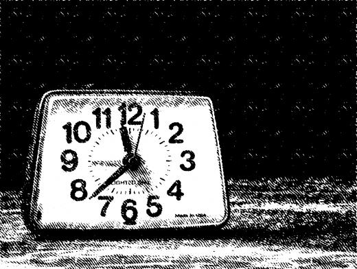 Stipplr Analog Clock On Nightstand