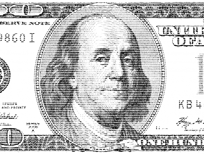 Stipplr American 100 Dollar Bill