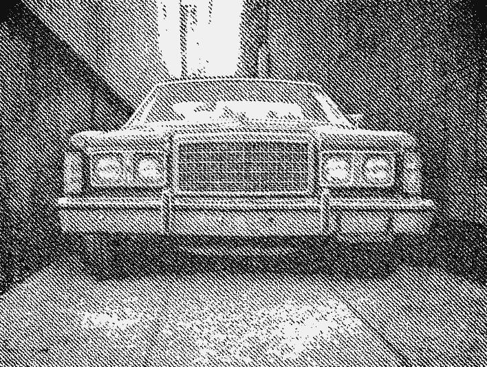 Stipplr American Car Classic Parked Alleyway