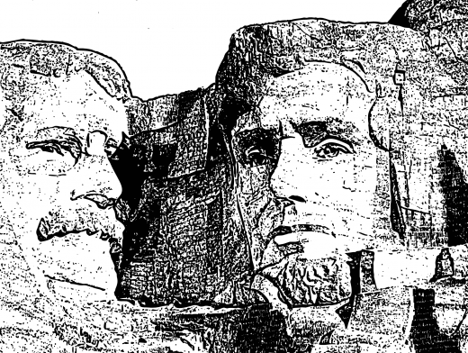 Stipplr Mount Rushmore