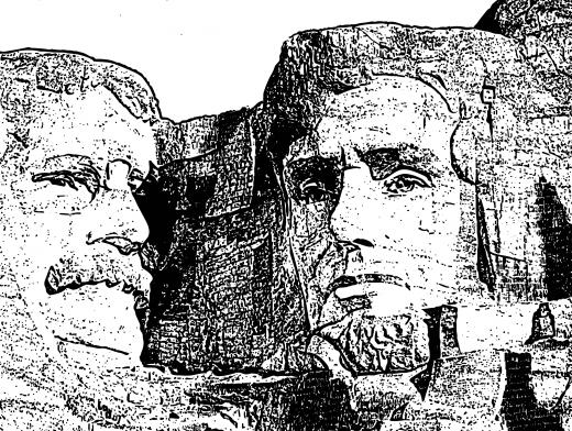 Stipplr Mount Rushmore