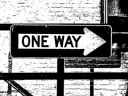 Stipplr One Way Street Sign Pointing That-A-Way