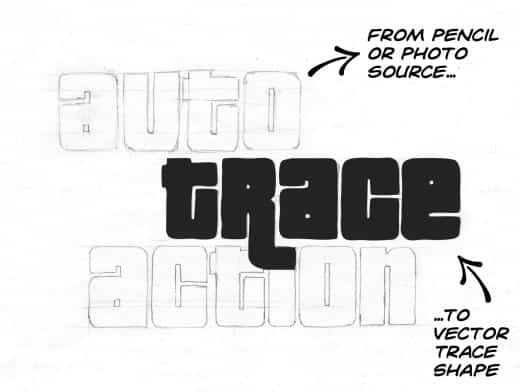 Stipplr Auto Trace Action Pencil To Vector Shape Layers