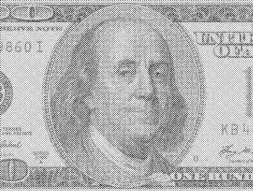 Stipplr Newsprint Texture US 100 Dollar Bill