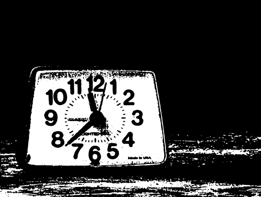 Stipplr Bad Photocopy Texture Analog Clock