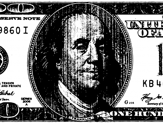 Stipplr Bad Photocopy Texture US 100 Dollar Bill