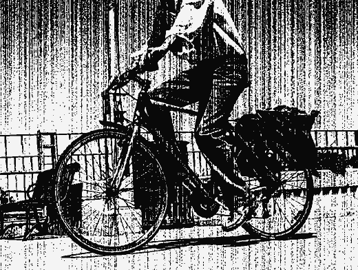 Stipplr Vector Photocopy Texture Guy Riding Bike
