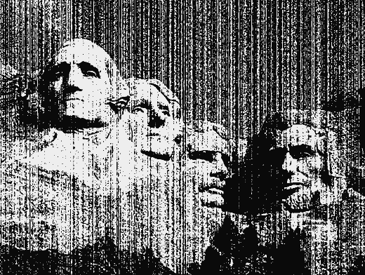 Stipplr Vector Photocopy Texture Mount Rushmore
