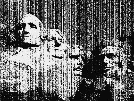 Stipplr Vector Photocopy Texture Mount Rushmore