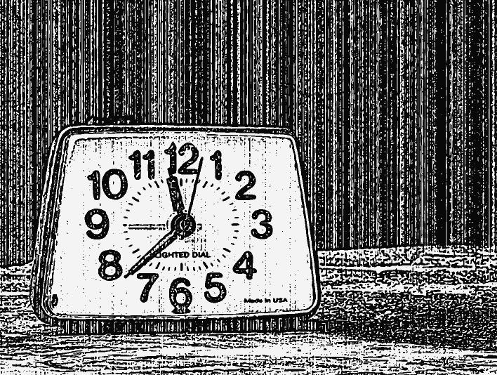 Stipplr Distressed Photocopy Texture Analog Clock