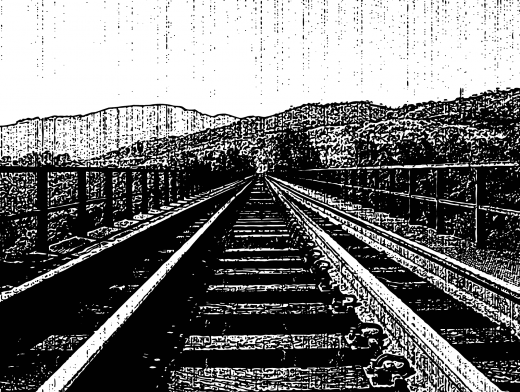 Stipplr Distressed Photocopy Texture Countryside Rails