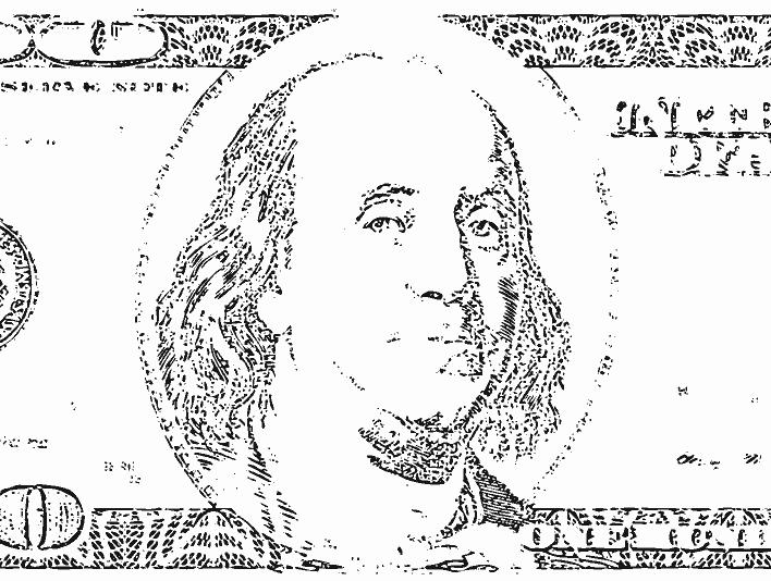 Stipplr American 100 Dollar Bill
