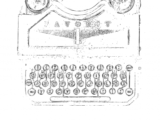 Stipplr Classic Typewriter with Round Punch Keys