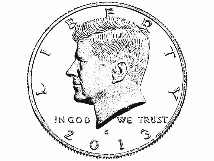 Stipplr 1964 John F. Kennedy US Half Dollar Coin