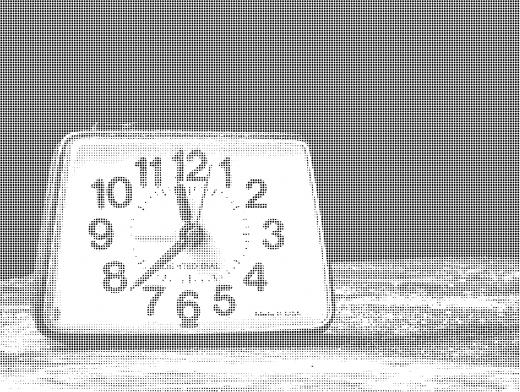 Stipplr Photoshop Vector Benday Dot Analog Clock