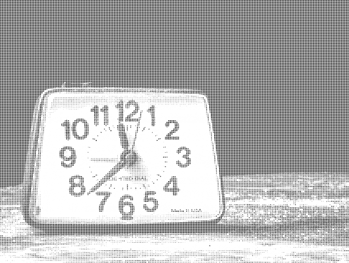 Stipplr Photoshop Vector Benday Dot Analog Clock