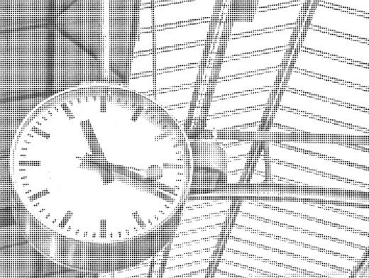 Stipplr Photoshop Benday Dot Technique Bedside Analog Clock