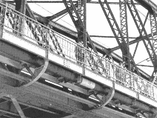 Stipplr Photoshop Benday Dot Technique Steel Bridge