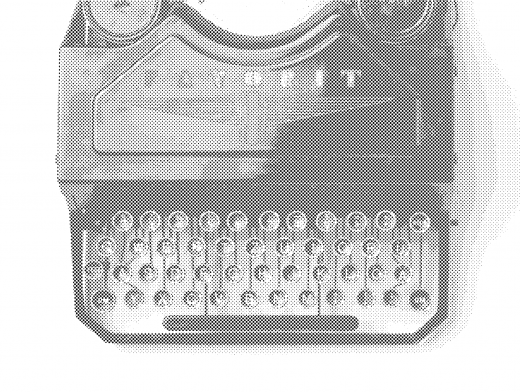Stipplr Photoshop Benday Dot Technique Favorit Typewriter