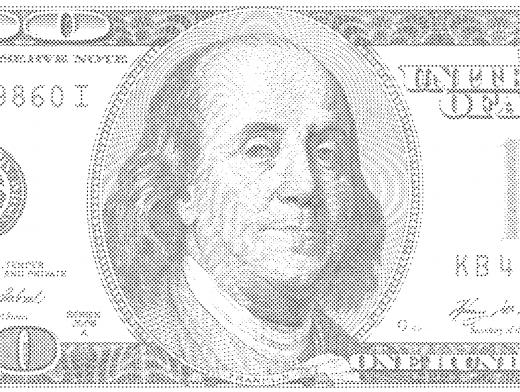Stipplr Photoshop Benday Dot Technique US 100 Bill