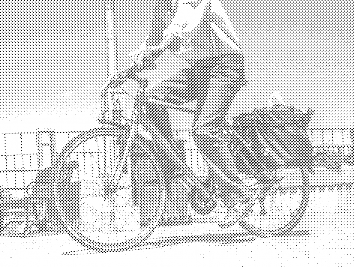 Stipplr Photoshop Benday Dot Technique Man Riding a Bike