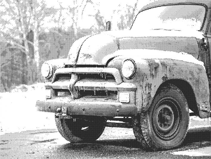 Stipplr Photoshop Benday Dot Technique Old Farmers Truck