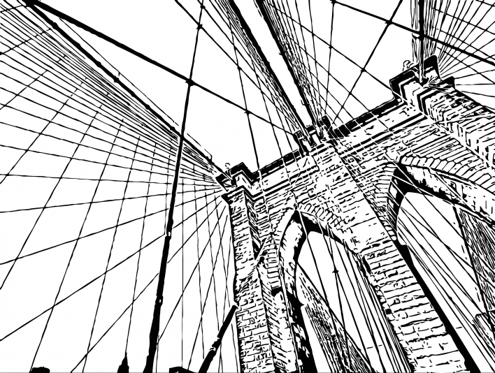 Stipplr Inker Auto Trace for Photoshop Stone Bridge Overpass