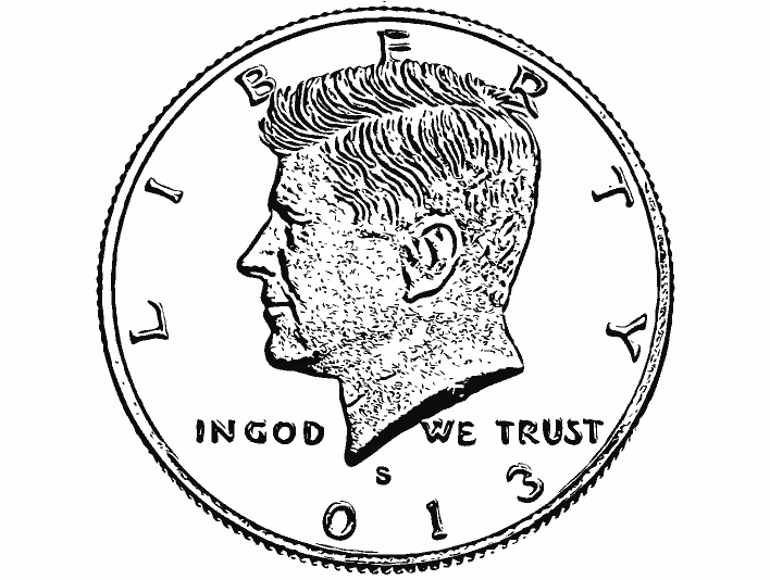 Stipplr Inker Live Trace for Photoshop Robert Kennedy Coin