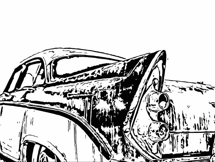 Stipplr Inker Live Trace for Photoshop 1956 Dodge Coronet coupe