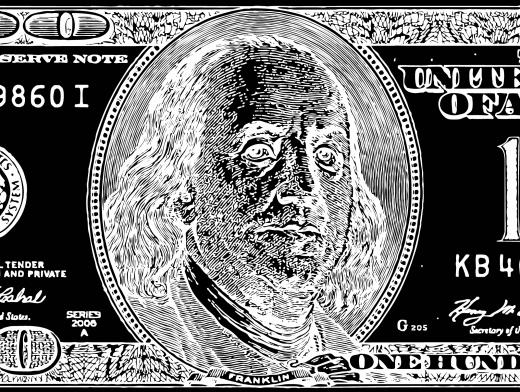 Stipplr Inker Live Trace for Photoshop US 100 Dollar Bill