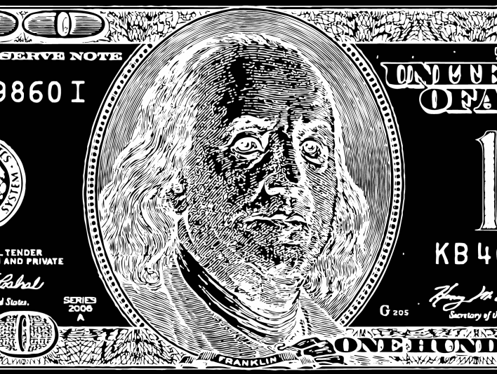 Stipplr Inker Live Trace for Photoshop US 100 Dollar Bill