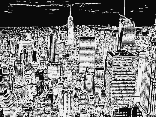 Stipplr Inker Live Trace for Photoshop New Your City Skyline