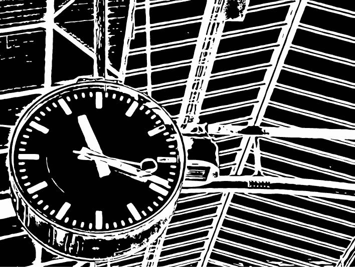 Stipplr Inker Live Trace for Photoshop Train Station Analog Clock