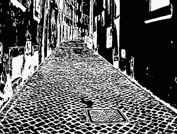 Stipplr Inker Live Trace for Photoshop Italian Cobble Street