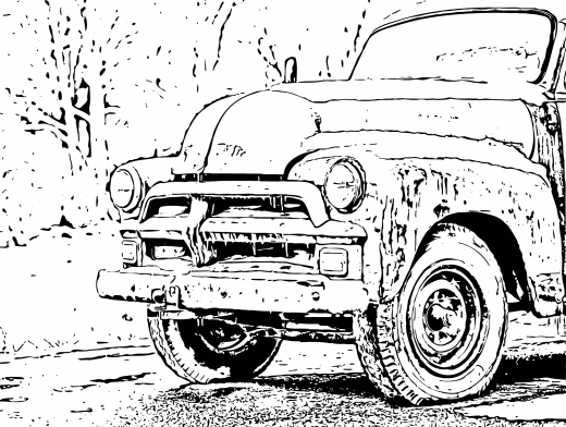 Stipplr Photoshop Stroke Outline Farmers Truck