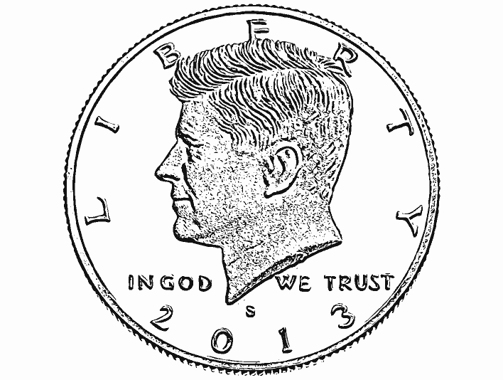 Stipplr Photoshop Vector Trace Robert Kennedy Coin