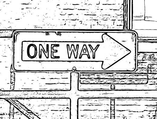 Stipplr Photoshop Live Trace One Way Street Sign