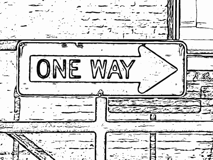Stipplr Photoshop Live Trace One Way Street Sign
