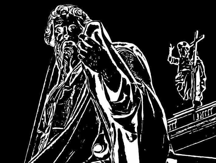 Stipplr Photoshop Vector Trace Vatican St Paul Statue