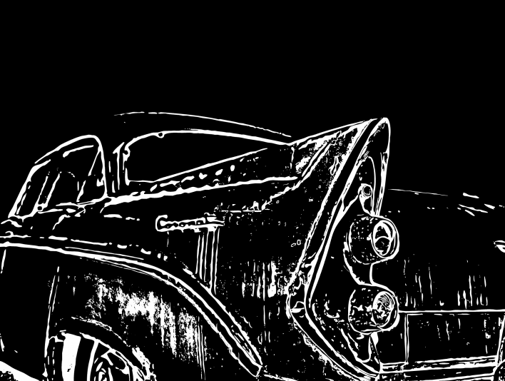 Stipplr Photoshop Vector Outline 1956 Dodge Coronet coupe