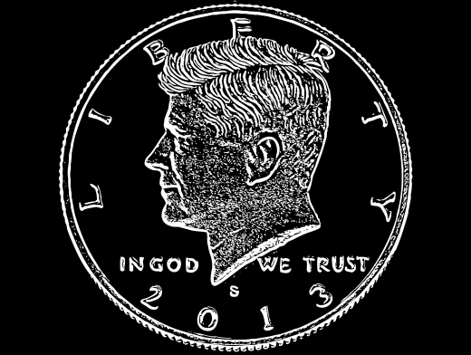 Stipplr Photoshop Vector Trace Robert Kennedy Coin