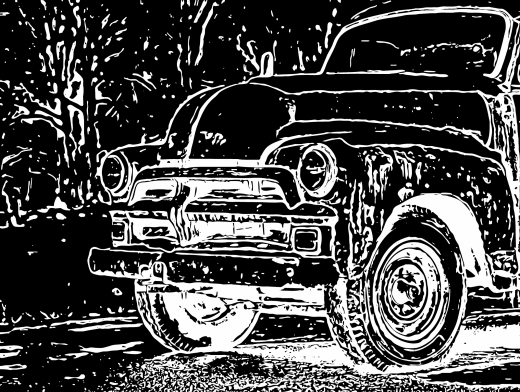 Stipplr Photoshop Auto Trace Farmers Truck