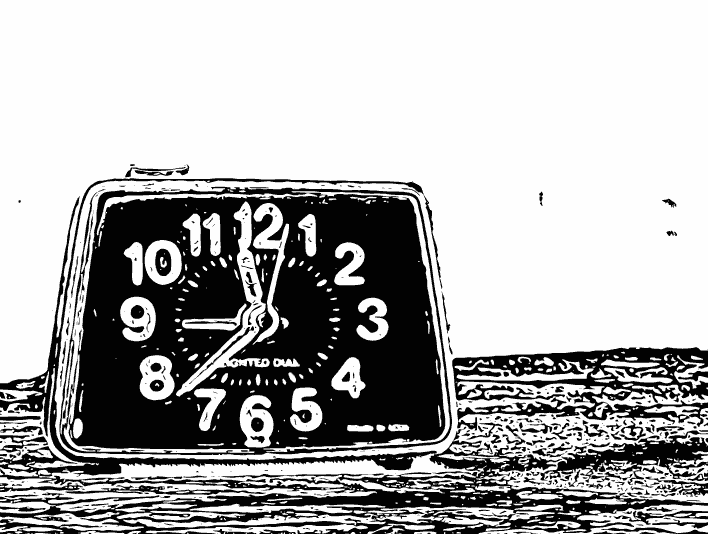 Stipplr Photoshop Stroke Outline Analog Clock